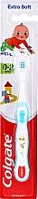 Fragrances, Perfumes, Cosmetics Kids Soft Toothbrush, 0-2 yr, white-dark blue with child - Colgate Smiles Toothbrush