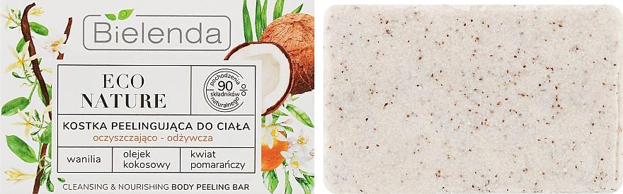 Coconut Body Soap-Scrub - Bielenda Eco Nature Body Peeling Bar Vanilla Coconut Milk Orange