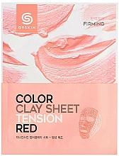 Fragrances, Perfumes, Cosmetics Clay Facial Sheet Mask - G9Skin Color Clay Sheet Tension Red