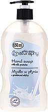 Fragrances, Perfumes, Cosmetics Liquid Soap with Milk Proteins - Bluxcosmetics Naturaphy Hand Soap