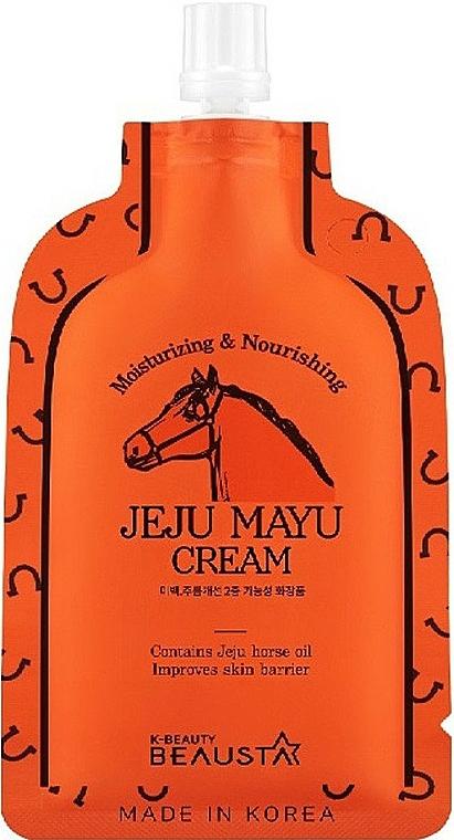 Horse Oil Face Cream - Beausta Jeju Mayu Cream — photo N1