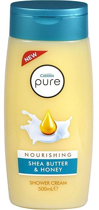 Shower Cream - Cussons Pure Shower Cream Nourishing Shea Butter & Honey — photo N1