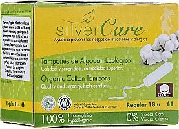 "Fragrances, Perfumes, Cosmetics Organic Cotton Tampons ""Regular "", 18 pcs - Masmi Silver Care"