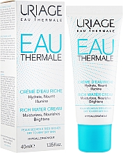 Fragrances, Perfumes, Cosmetics Rich Moisturizing Cream - Uriage Eau Thermale Rich Water Cream