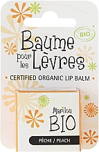 "Fragrances, Perfumes, Cosmetics Lip Balm ""Peach"" - Marilou Bio Certified Organic Lip Balm Peach"