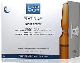 Fragrances, Perfumes, Cosmetics Anti-Photoaging Night Ampoules - MartiDerm Platinum Night Renew Ampollas