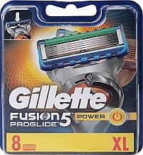 Fragrances, Perfumes, Cosmetics Shaving Razor Refills, 8 pcs. - Gillette Fusion ProGlide Power