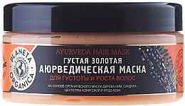 "Fragrances, Perfumes, Cosmetics Hair Thickness and Growth Mask ""Golden Ayurvedic"" - Planeta Organica Ayurveda Hair Mask"