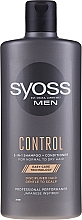 Fragrances, Perfumes, Cosmetics Shampoo-Conditioner for Normal and Dry Hair - Syoss Men Control 2-in-1 Shampoo-Conditioner