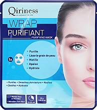 Fragrances, Perfumes, Cosmetics Cleansing Face Sheet Mask - Qiriness Wrap Purifiant Mask