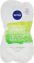 Fragrances, Perfumes, Cosmetics Peel Off Face Mask - Nivea Urban Skin Peel Off Detox Mask
