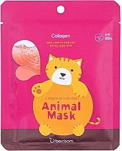 Fragrances, Perfumes, Cosmetics Marine Collagen Sheet Mask - Berrisom Animal Mask Collagen Series Cat