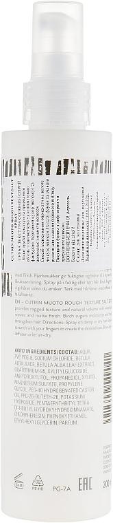 Salt Hair Spray - Cutrin Muoto Rough Texturizing Salt Spray — photo N2