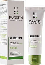 Fragrances, Perfumes, Cosmetics Night Cream for Imperfections - Iwostin Purritin Reducing Imperfections Night Cream