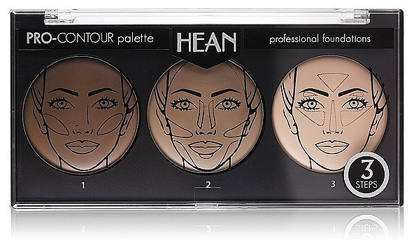 Face Contour Palette 3 Colors - Hean Pro-Countour Palette