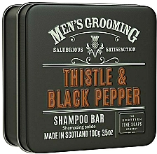 "Fragrances, Perfumes, Cosmetics Hair Shampoo ""Thistle & Black Pepper"" - Scottish Fine Soaps Mens Grooming Thistle & Black Pepper Shampoo Bar"