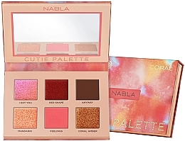 Fragrances, Perfumes, Cosmetics Eyeshadow Palette - Nabla Cutie Collection Palette Coral