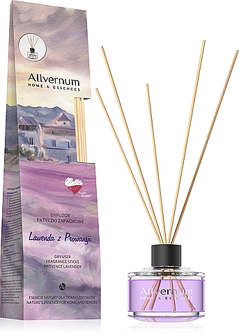 """Reed Diffuser """"Lavender from Provence"""" with sticks - Allverne Home&Essences Diffuser"""