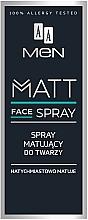 Fragrances, Perfumes, Cosmetics Mattifying Face Spray for Men - AA Men Matt Face Spray