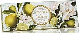 "Fragrances, Perfumes, Cosmetics Natural Soap Set ""Bergamot and Gardenia"" - Saponificio Artigianale Fiorentino Bergamot & Gardenia"