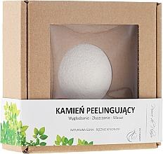 Fragrances, Perfumes, Cosmetics Natural Scrubbing Stone, white - Pierre de Plaisir Natural Scrubbing Stone Face