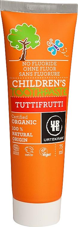 "Kids Toothpaste ""Tutti-Frutti"" - Urtekram Childrens Toothpaste Tuttifrutti"