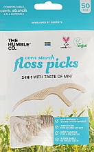 Fragrances, Perfumes, Cosmetics Dental Floss with Holder, brown - The Humble Co. Dental Floss Picks