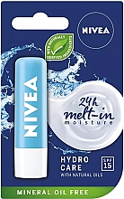 """Fragrances, Perfumes, Cosmetics Lip Balm """"Aqua Care"""" SPF 15 - Nivea Lip Care Hydro Care Lip Balm"""
