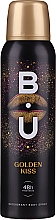 Fragrances, Perfumes, Cosmetics B.U. Golden Kiss Deodorant Body Spray 48H Freshness - Deodorant Spray