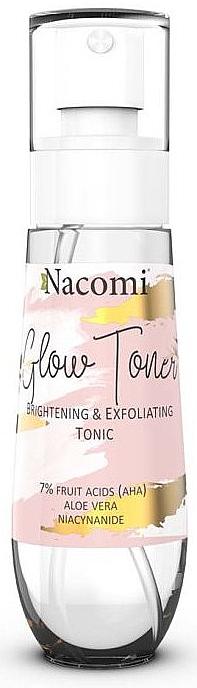 Brightening Face Tonic - Nacomi Glow Brightening & Exfoliating Tonic