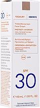 Tinted Sunscreen Face Cream - Korres Yoghurt Tinted Sunscreen Face Cream SPF30 — photo N2