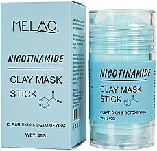 Fragrances, Perfumes, Cosmetics Nicotinamide Facial Mask Stick - Melao Nicotinamide Clay Mask Stick