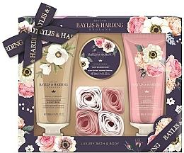Fragrances, Perfumes, Cosmetics Set - Baylis & Harding Royale Garden (sh/cr/200ml + b/lot/200ml + b/butter/50ml + soap/6g)