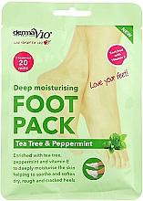 Fragrances, Perfumes, Cosmetics Moisturizing Foot Sock-Mask - Derma V10 eel Foot Pack Tea Tree&Peppermint Deep Vegan Moisturising Exfoliating