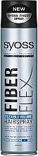 "Fragrances, Perfumes, Cosmetics Hair Spray ""Flexible Volume"" - Syoss Fiber Flex Flexible Volume Hair Spray"