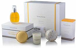 Fragrances, Perfumes, Cosmetics Set - AromaWorks Serenity Body Indulgence Gift Set (bath/bomb/2x250g + candle/75g + b/oil/100ml + flannel)