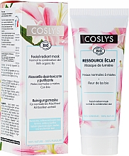 Fragrances, Perfumes, Cosmetics Skin Glowing Mask with Lily Extract for Normal and Combination Skin - Coslys Facial Care Radiant Mask With Lily Extract