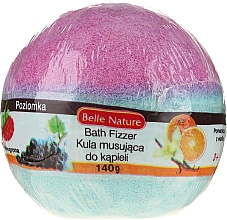 Fragrances, Perfumes, Cosmetics Fizzy Bath Bomb, purple-blue - Belle Nature