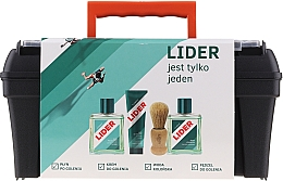 Fragrances, Perfumes, Cosmetics Set - Lider Classic (ash/lot/100ml + shav/cr/65g + edc/100ml + shav/brush + case)