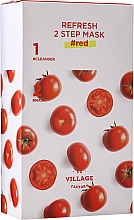 Fragrances, Perfumes, Cosmetics 2-Phase Tomato Mask - Village 11 Factory Refresh 2-Step Mask Red