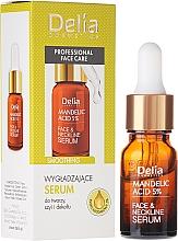 Fragrances, Perfumes, Cosmetics Neck, Face and Decollete Face Serum with Almond Oil - Delia Mandelic Acid 5% Active Face & Neckline Serum