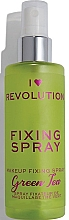 Fragrances, Perfumes, Cosmetics Makeup Fixing Spray - I Heart Revolution Fixing Spray Green Tea