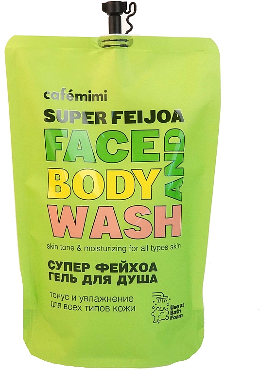 Super Feijoa Shower Gel - Cafe Mimi Super Feijoa Face And Body Wash (doypack) — photo N1