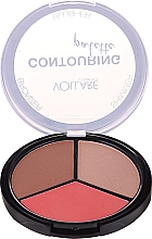 Fragrances, Perfumes, Cosmetics Face Contouring Palette - Vollare Cosmetics Contouring Palette Bronzer, Shimmer, Blusher