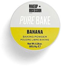 Fragrances, Perfumes, Cosmetics Mattifying Loose Powder - Makeup Obsession Pure Bake Baking Powder Banana