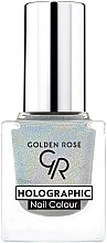Fragrances, Perfumes, Cosmetics Nail Polish - Golden Rose Holographic Nail Colour