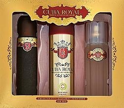 Fragrances, Perfumes, Cosmetics Cuba Royal - Set (edt/100ml + a/sh/balm/100ml + deo/200ml)