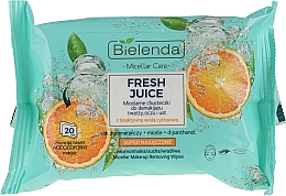 "Micellar Makeup Remover Wipes ""Orange"" - Bielenda Fresh Juice Micelar Make-up Removing Wipes — photo N1"