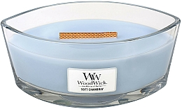 Fragrances, Perfumes, Cosmetics Scented Candle in Glass - WoodWick Hearthwick Flame Ellipse Candle Soft Chambray