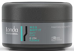 Fragrances, Perfumes, Cosmetics Normal Hold Matte Hair Clay - Londa Professional Men Shift It Matt Clay
